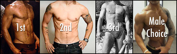 The top-rated male bodies from our small, informal survey study