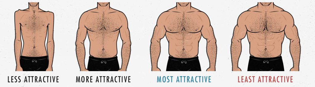 How muscular is the ideal male physique? Is there such a thing as being too muscular to be considered attractive?