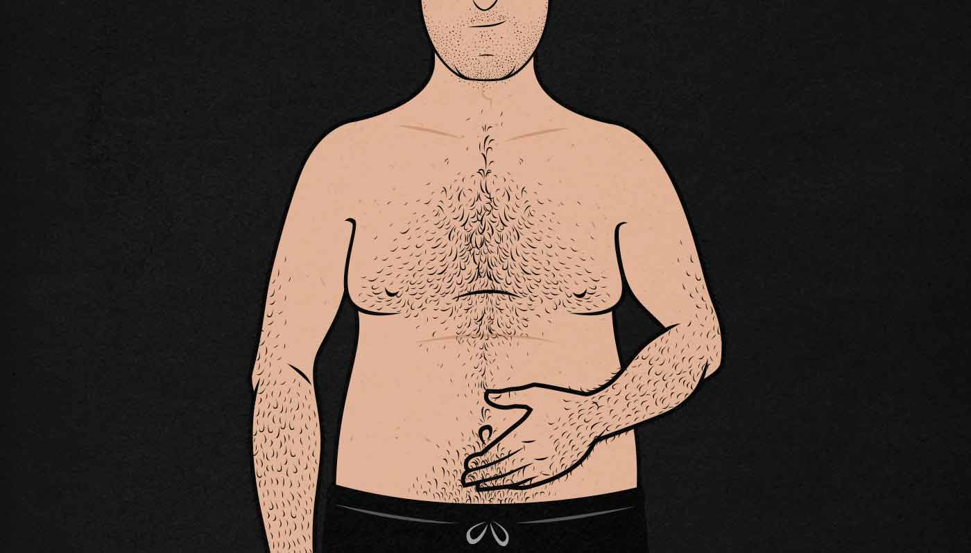 Illustration of an Overweight Person